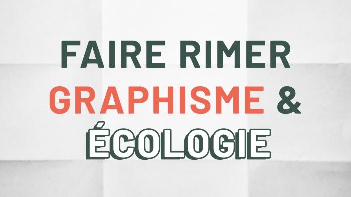 graphisme & ecologie